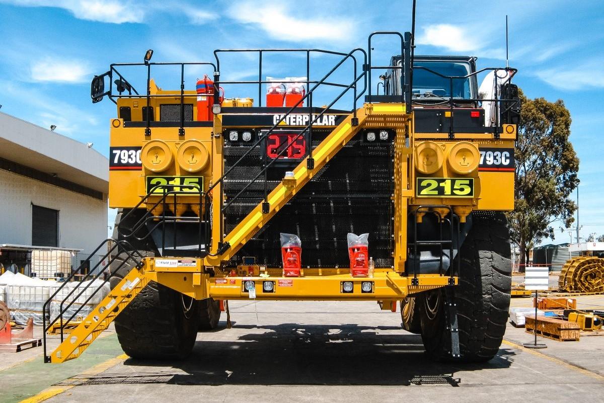 Нумератор Driver Industrial на горнодобывающей технике